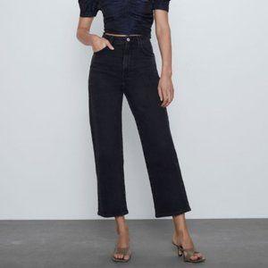 ZARA Super High Rise Vintage Slim Jeans in Black